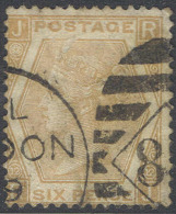 #1- GREAT BRITAIN  59b, Used, Pl# 12, Pale Buff, Sound Sound.......(gb059b-5, ...[16-CTY - Used Stamps