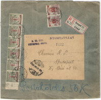 UNGHERIA - Hungary - 1921 - 6 X 9 Korona + 2 X 100 Filler - Auxiliary Postage Due, Service Stamps Used For Postage - ... - Lettere