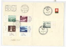 SVIZZERA - HELVETIA - 1954 - Pro Patria - Carnet PTT - Zürich Bundesfeier-Automobil Postbureau + Wettingen-Schweiz Ze... - Pro Patria