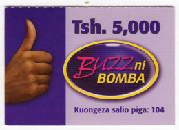 TANZANIE Prepayé BUZZ 5000 TSH - Tanzanie