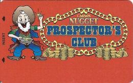 Carson Nugget Casino Carson City, NV Slot Card - Large Miner, ACC Over Mag Stripe (BLANK) - Casinokarten