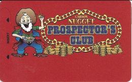 Carson Nugget Casino Carson City, NV Slot Card - Small Miner, ACC Over Mag Stripe (BLANK) - Casinokarten