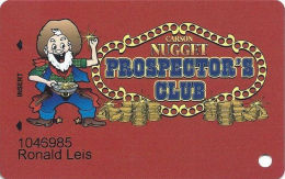 Carson Nugget Casino Carson City, NV Slot Card - Copyright 2008 - Casino Cards