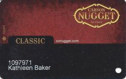 Carson Nugget Casino Carson City, NV Slot Card - Casino Cards