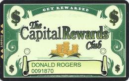Carson Station & Pinon Plaza Casinos Slot Card - Carson City, NV - 2 Logos On Reverse - Casino Cards