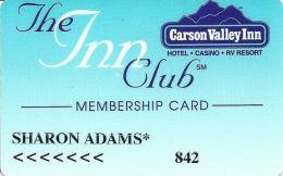 Carson Valley Casino - Carson City, NV - 5th Issue Slot Card - PPC Over Mag Stripe - Casino Cards