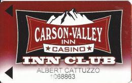 Carson Valley Casino - Carson City, NV - Slot Card - Casinokarten