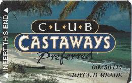 Castaways Casino Las Vegas, NV Slot Card - Cartes De Casino