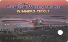 Chinook Winds Casino Lincoln City, OR - Slot Card - No Text Over Black Mag Stripe - Casino Cards