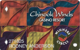 Chinook Winds Casino Lincoln City, OR - Slot Card - Reverse Logo Centered - Ablecard Over Mag - Casino Cards