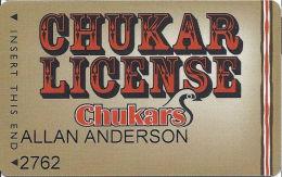 Chukars Casino Fernley, NV Slot Card - Casino Cards