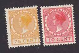 Netherlands, Scott #149, 151, Mint Hinged, Queen Wihelmina, Issued 1924 - Period 1891-1948 (Wilhelmina)