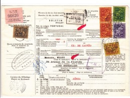 Portugal / Parcel Cards / Belgium - Unclassified