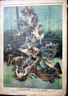 SCAPHANDRIER CATASTROPHE DE SANTANDER  LES SCAPHANDRIERS A LA RECHERCHE DE CADAVRES 1893 - Newspapers