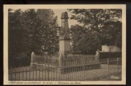 Saint Remy De Chargnat  Monument Aux Morts - Non Classificati
