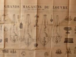 LES GRANDS MAGASINS DU LOUVRE Lampes Faïences Argenterie 72 X 57 - Advertising