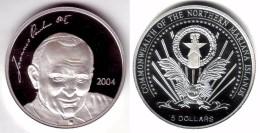ISLAS MARIANAS 5 DOLARES 2004  -  JUAN PABLO II - Isole Marianne Del Nord