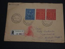LUXEMBOURG - Enveloppe En Recommandée Pour La Belgique En 1958 , Affranchissement Plaisant - A Voir- L 279 - Luxemburg