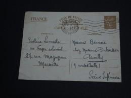 FRANCE - Entier Postal ( Type Iris) De Marseille Pour Pavilly En 1940 - A Voir- L 280 - Entiers Postaux