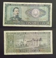 50 LEI  ROUMANIE Type 1966 Alexandru Ioan Cuza  Non Daté  TB - Romania