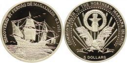 ISLAS MARIANAS 5 DOLARES 2004  -  MAGALLANES - Isole Marianne Del Nord