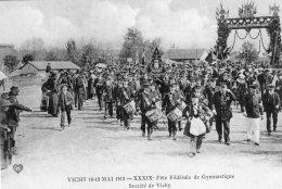 V4154 Cpa 03 Vichy - Fêtes De Gymnastique 1913 -  Société  De Vichy - Vichy
