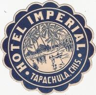 Publicite Pub Hôtel Impérial Tapachula Mexique Autocollant Chiapas Chis - Pubblicitari