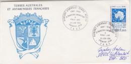 TAAF 1981 Antarctic Treaty 1v FDC  Dumont D'Urville (30698C) - FDC