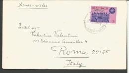 AUS11---STORIA POSTALE-AEREA-  AUSTRALIA,    SYDNEY---ROMA, ITALY,  1974, - 1966-79 Elizabeth II