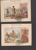 Chromo XIXè - Chocolat Louit - Lot De 6 - Les Mineraux -étain, Emeraude, Opale, Amethyste,succin, Pierre - Louit
