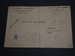 SYRIE - Enveloppe En Recommandée De Alep Avec Oblitération Colis Postaux Pour L' Italie 1981 - A Voir - L 331 - Syria