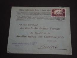 SUISSE - Enveloppe Commerciale De Zurich En 1919 Pour Liestar , Affranchissement Plaisant - A Voir - L 333 - Svizzera