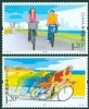 China 2011-19 Low Carbon Travel Stamps Cycling Bicycle Health - Other