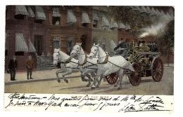 POMPIERS - Going To The Fire - ATTELAGE De CHEVAUX - HORSE CART - CARRIAGE - FIREMEN - FIRE BRIGADE - Pompieri