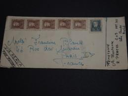 BRÉSIL - Enveloppe Pour Paris En 1961 , Affranchissement Plaisant Recto Et Verso - A Voir - L 336 - Cartas