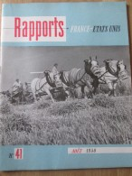 Rapports France Etats-unis 1950 Les Ballets Francais Aux Etats Unis   Danse  Classique - Livres, BD, Revues