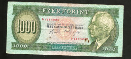 UNGHERIA / HUNGARY / MAGIAR  - NATIONAL BANK - 1000 FORINT (Budapest - 1992) - Ungheria