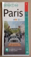 RATP METRO BUS RER TRAMWAY STIF - GRAND PLAN DES LIGNES - PARIS - AVRIL 2008 -65 X 37 Cm (ouvert) - 3 SCANS - Europe