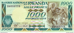 RWANDA 1000 FRANCS 1988 P-21 UNC [ RW120a ] - Rwanda