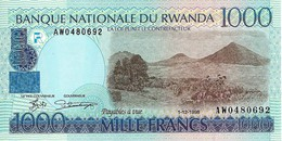 RWANDA 1000 FRANCS 1998 P-27 UNC NARROW SER. [ RW126b ] - Rwanda