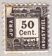 Schweiz -  1867 Jura Industriel-Bahn #134 Buchdruck Ausgabe Kat. 1500 CHF - Ferrovie