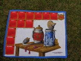 Torchon Calendrier 1968-chope De Biere-pipe - Publicité