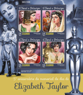 SAO TOME 2016 ** Elizabeth Taylor Peter Finch M/S - OFFICIAL ISSUE - A1625