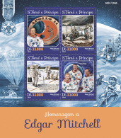 SAO TOME 2016 ** Edgar Mitchell Space Espace M/S - OFFICIAL ISSUE - A1625 - Space