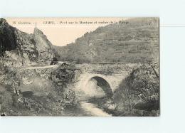 GIMEL : Pont Sur La Montagne Et Rocher De La Vierge . 2 Scans. Edition Guionie - France