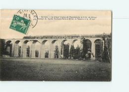 Grand Viaduc De PLANCHEFORTE : Passage Du Rapide Toulouse Paris à 4h18 Du Soir. Train. 2 Scans. Edition A G B - France