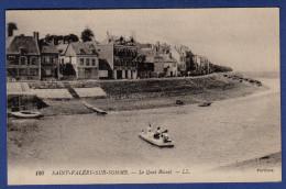 80 SAINT VALERY SUR SOMME Le Quai Blavet - Animée - Saint Valery Sur Somme