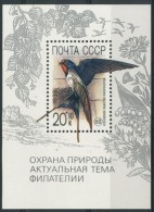 RUSSIA / RUSSIE 1989** - Uccelli / Birds - Rondine - Blocck MNH  Come Da Scansione - Rondini
