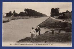 80 SAINT VALERY SUR SOMME Le Canal De La Somme - Animée - Saint Valery Sur Somme