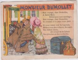 Chromo - Alcool De Menthe Ricqlès - Monsieur Dumollet - Illustration De G. Gerbault - Chromos